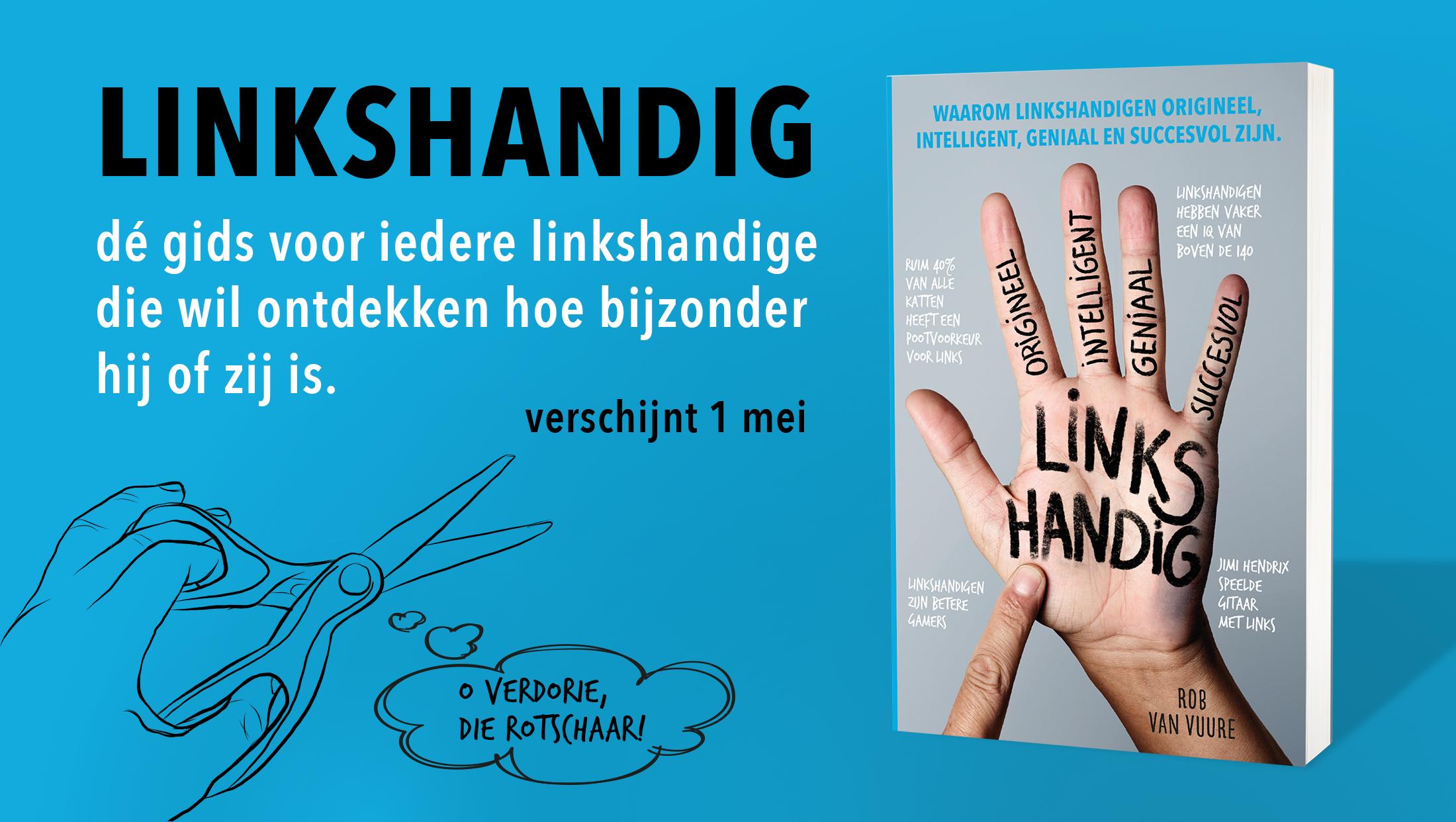 Boek over linkshandig-linkshandigheid